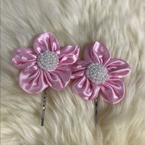 Flower Upcycled Hairpins